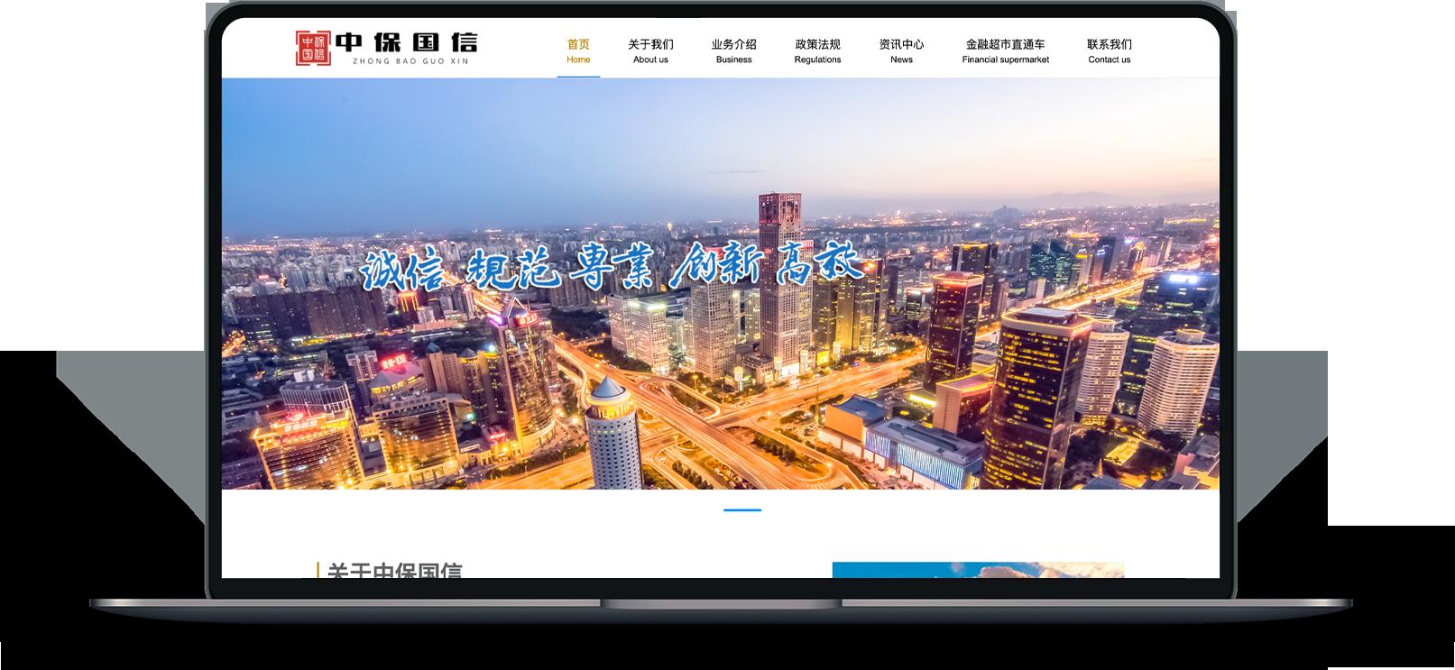 北京中保国信融资担保有限公司网站改版